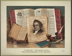 "English: ""Noah Webster, The Schoolmaster of the Republic,"" print by Root & Tinker. Courtesy of the Library of Congress, Division of Prints and Photographs Online. http://www.loc.gov/pictures/item/2003680822/?sid=ed9af5f8c1822c65772ea1b4185054d0 (Photo credit: Wikipedia)"